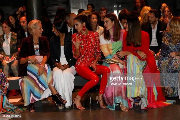 Deborah Brett Noreen Goodwin Luna De Casanova Maria Kastani and Federica Fanari attend Mary Katrantzou SS19 show production by Family Limited on...