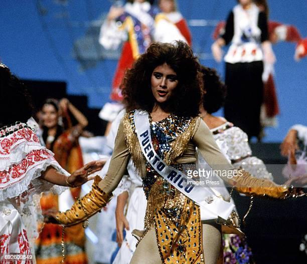 Deborah CarthyDeu attends the 1985 Miss Universe Pageant circa 1985 in Miami Florida
