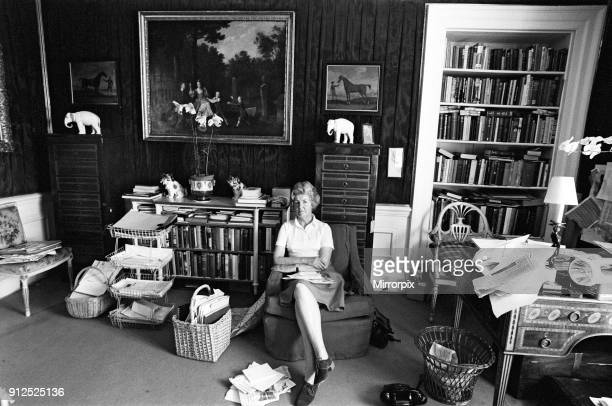 Deborah Cavendish, Duchess of Devonshire, pictured in her study at Chatsworth House, Derbyshire, 30th June 1976.