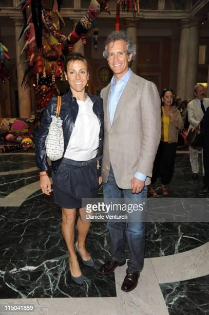 Deborah Compagnoni and Alessandro Benetton attend the 'Il Mondo Vi Appartiene' Exhibition Opening during the 54th International Art Biennale at...
