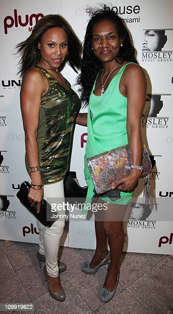 Deborah Cox and Gloria James attend Timbaland's birthday party at the Chop House on March 9 2011 in Miami Florida