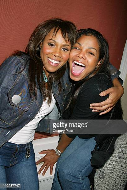 Deborah Cox and Janet Jackson during Janet Jackson Hosts A Surprise 40th Birthday Party for her Stylist Wayne Scot Lukas at Private Residence in New...