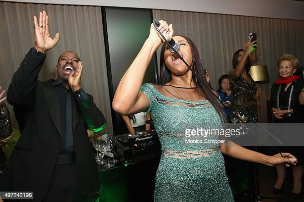 Deborah Cox and Ted Gibson attend Ted Gibson's 50th Birthday Party on November 14 2015 in New York City