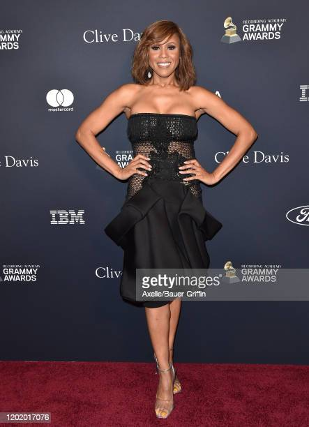 """Deborah Cox attends the Pre-GRAMMY Gala and GRAMMY Salute to Industry Icons Honoring Sean """"Diddy"""" Combs at The Beverly Hilton Hotel on January 25,..."""
