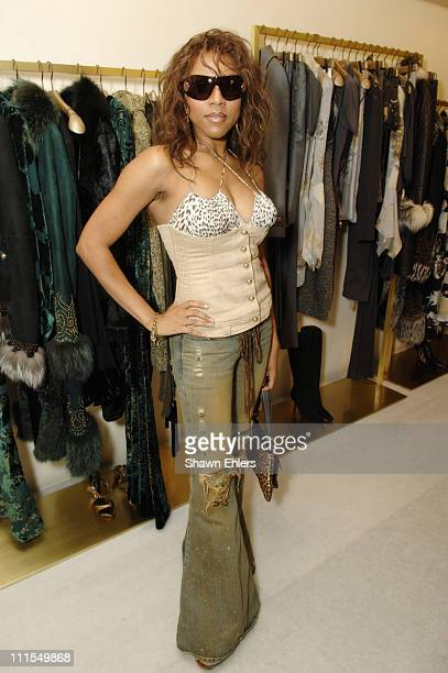 Deborah Cox during Roberto Cavalli and Tinsley Mortimer Celebrate New York Fashion Week and His Fall 2006 Collection at Roberto Cavalli Boutique in...