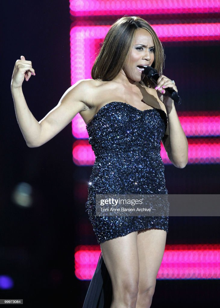 Deborah Cox performs on stage during the World Music Awards 2010 at the Sporting Club on May 18, 2010 in Monte Carlo, Monaco.