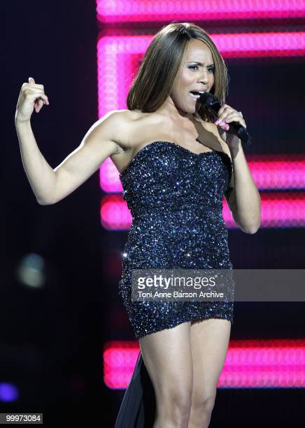 Deborah Cox performs on stage during the World Music Awards 2010 at the Sporting Club on May 18 2010 in Monte Carlo Monaco