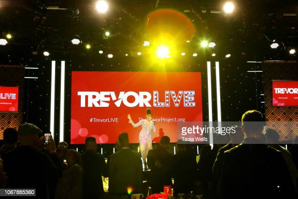 Deborah Cox performs onstage during the Trevor Project's TrevorLIVE LA 2018 at The Beverly Hilton Hotel on December 3 2018 in Beverly Hills California
