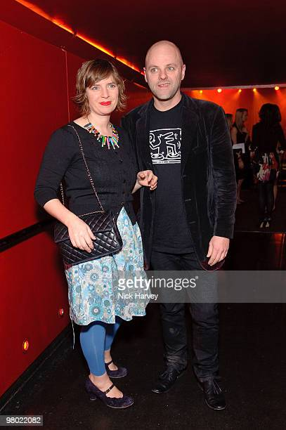 Deborah Curtis and Gavin Turk attend The ICA Fundraising Gala at KOKO on March 24, 2010 in London, England.