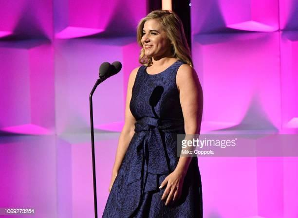 Deborah Curtis speaks onstage at Billboard Women In Music 2018 on December 6 2018 in New York City