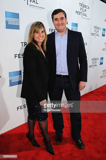 Deborah Curtis Vice President Entertainment Marketing and Sponsorships American Express and Tribeca Enterprises President Jon Patricof attend Tribeca...