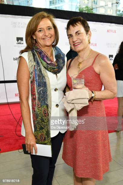 Deborah D Montaperto and Eileen P Matthews attend Lincoln Center Corporate Fund's Stand Up Sing for the Arts at Alice Tully Hall on June 19 2018 in...