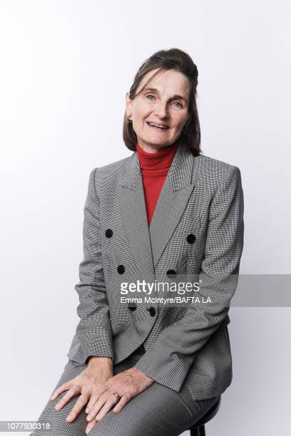 Deborah Davis poses for a portrait at The BAFTA Tea Party on January 5 2019 in Beverly Hills California