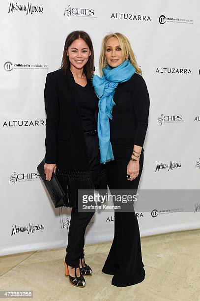 Deborah Driggs and Catherine Bloom attend The CHIPS Spring Luncheon 2015 on May 14 2015 in Beverly Hills California