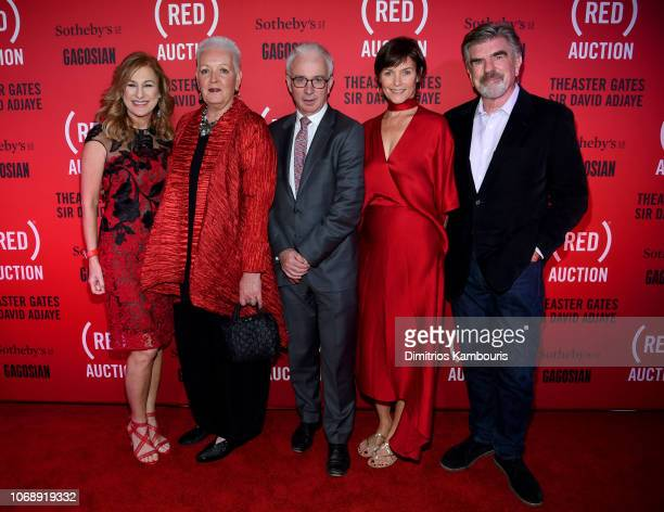 Deborah Dugan Gayle Smith Peter Sands Carey Lowel and Tom Freston attend The Auction with Theaster Gates Sir David Adjaye and Bono in collaboration...