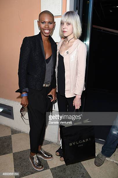 Deborah Dyer aka Skin and Antonia CampbellHughes attend press conference of 'ANDRON THE BLACK LABYRINTH' by AMBI Pictures at Casa del Cinema on...