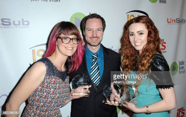 Deborah Etta Robinson director Jonathan Robbins and Jillian Clare attend 5th Annual Indie Series Awards held at El Portal Theatre on April 2 2014 in...