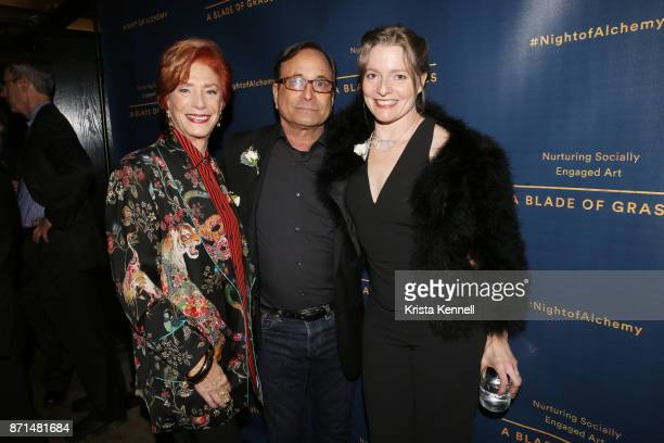 Deborah Fisher Ross Bleckner and Shelley Frost Rubin attend A Blade of Grass Annual Night of Alchemy on November 7 2017 in New York City
