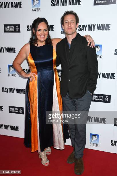 Deborah FrancesWhite and Tobias Menzies attend the Say My Name Gala Screening at Odeon Luxe Leicester Square on April 23 2019 in London England