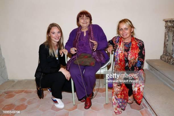 Deborah Francois Agnes Varda and her daughter Rosalie Varda attend the Kering Heritage Days Opening Night at 40 Rue de Sevres on September 14 2018 in...