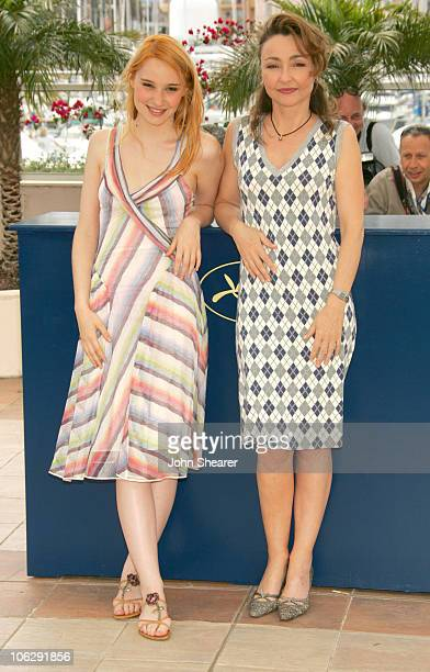 Deborah Francois and Catherine Frot during 2006 Cannes Film Festival 'La Tourneuse De Page' Photocall at Palais Du Festival in Cannes France