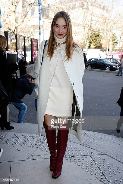 Deborah Francois attends the Cedric Charlier show as part of the Paris Fashion Week Womenswear Fall/Winter 2015/2016 on March 4 2015 in Paris France