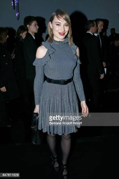 Deborah Francois attends the Elie Saab show as part of the Paris Fashion Week Womenswear Fall/Winter 2017/2018 on March 4 2017 in Paris France