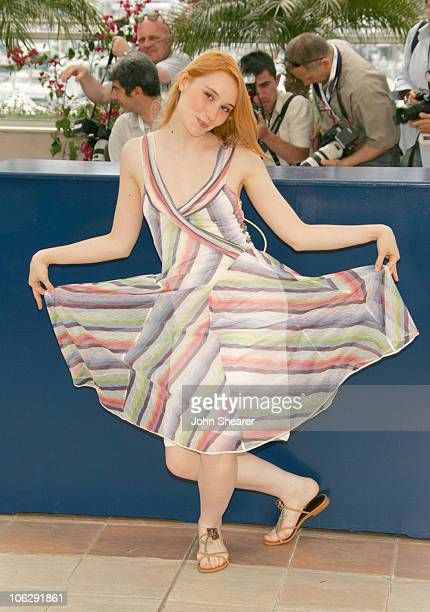 Deborah Francois during 2006 Cannes Film Festival 'La Tourneuse De Page' Photocall at Palais Du Festival in Cannes France