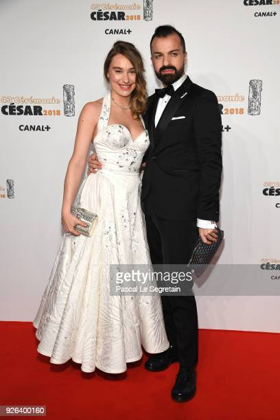 Deborah François and a guest arrive at the Cesar Film Awards 2018 At Salle Pleyel on March 2 2018 in Paris France