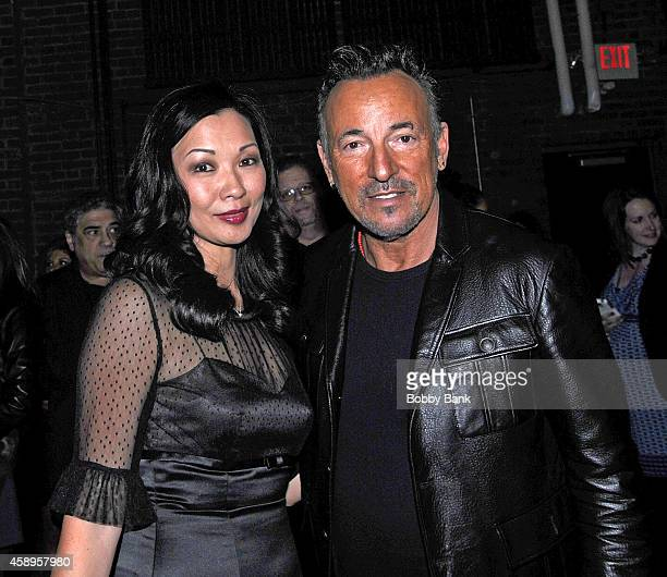 Deborah Gandolfini and Bruce Springsteen attends The 7th Annual New Jersey Hall Of Fame Induction Ceremony on November 13 2014 in Asbury Park United...