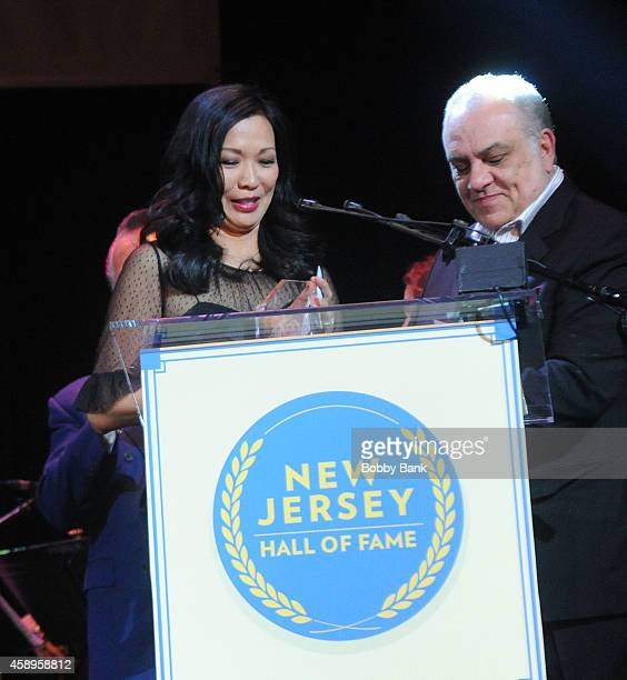 Deborah Gandolfini and Vince Curatola attends The 7th Annual New Jersey Hall Of Fame Induction Ceremony on November 13 2014 in Asbury Park United...