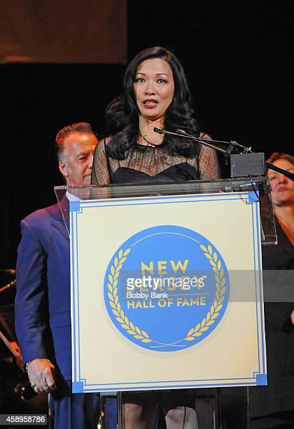 Deborah Gandolfini Tony Sirico Aida Turturro and Vince Curatola attends The 7th Annual New Jersey Hall Of Fame Induction Ceremony on November 13 2014...