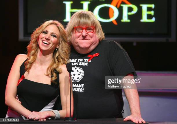 Deborah Gibson and Bruce Vilanch during Academy of Television Arts Sciences Presents The 10th Annual Ribbon of Hope Celebration 2006 Inside