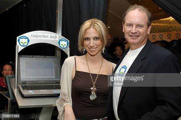 Deborah Gibson and Chris Gorog CEO/chairman of Napster