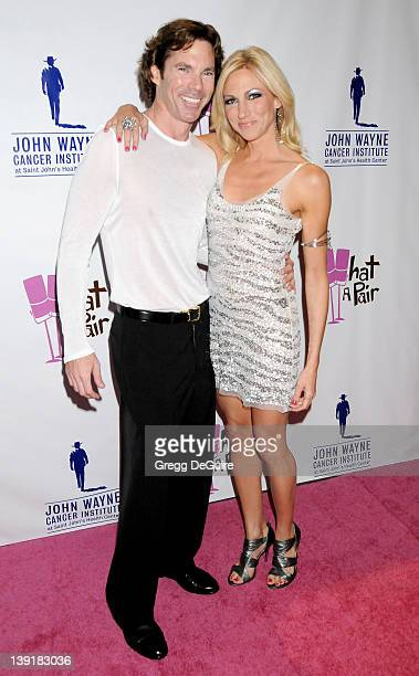 """Deborah Gibson and Dr. Rutledge Taylor arrive at """"What A Pair! 7"""" Celebrity Concert to Benefit the John Wayne Cancer Institute at The Broad Stage on..."""