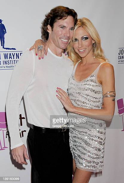 Deborah Gibson and Dr Rutledge Taylor arrive at What A Pair 7 Celebrity Concert to Benefit the John Wayne Cancer Institute at The Broad Stage on...