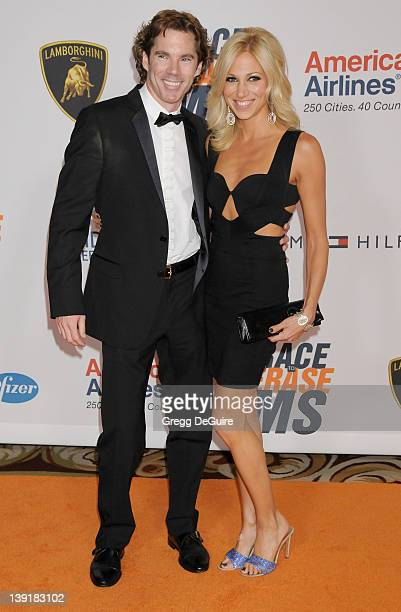 Deborah Gibson and Rutledge Taylor arrive at the 17th Annual Race to Erase MS event at the Hyatt Regency Century Plaza Hotel on May 7 2010 in Century...