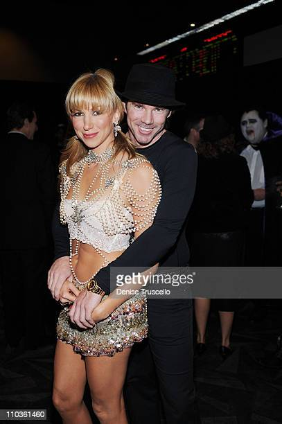 Deborah Gibson and Rutledge Taylor attend the Gala Premiere of Criss Angel Believe by Cirque Du Soleil at the Luxor Hotel and Casino on October 31...
