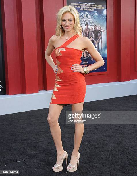 Deborah Gibson arrives at the Los Angeles Premiere 'Rock Of Ages' at Grauman's Chinese Theatre on June 8 2012 in Hollywood California