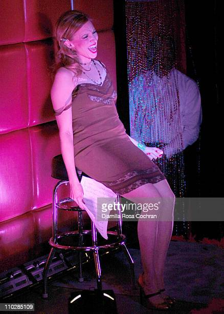 Deborah Gibson during Drama Dept Presents A Night of Burlesque at Cherry in New York City New York United States