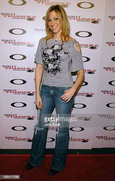 Deborah Gibson during Oakley Thump 2 Launch Party October 12 2005 at Montmartre Lounge in Hollywood California United States