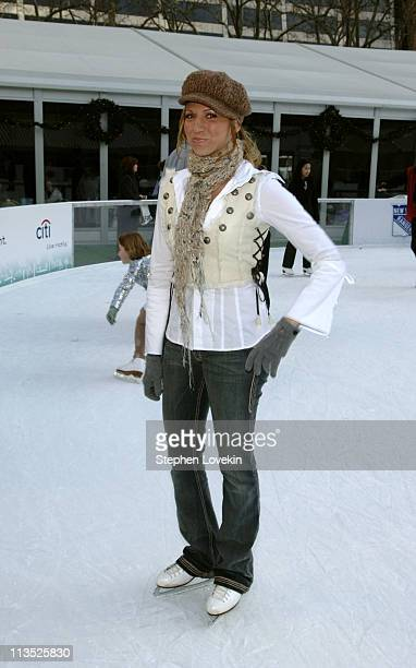 Deborah Gibson during The Stars of Skating With Celebrities at Bryant Park at Bryant Park in New York City New York United States