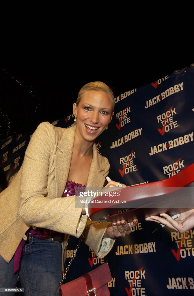 Deborah Gibson during The WB Network's 'Jack and Bobby' Rock the Vote Party -Inside at Warner Bros. Studios in Burbank, California, United States.