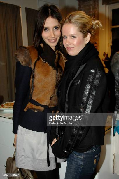 Deborah Hanau and Jenna Sloan attend JEROME DREYFUSS Fall/Winter 2009 Collection at LUDIVINE Uptown at Boutique Ludivine on February 19 2009 in New...