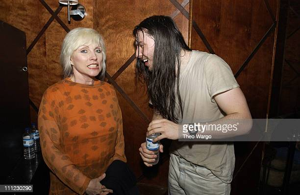 Deborah Harry and Andrew WK during Motherfu**er 2 Year Anniversary Party at Roxy in New York City New York United States
