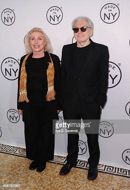 Deborah Harry and Chris Stein of Blondie attend 'Made In NY' Awards Ceremony at Weylin B Seymour's on November 10 2014 in Brooklyn New York