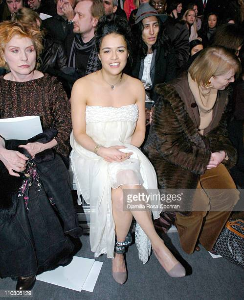 Deborah Harry and Michelle Rodriguez during MercedesBenz Fashion Week Fall 2007 Marc Jacobs Front Row at New York State Armory in New York City New...