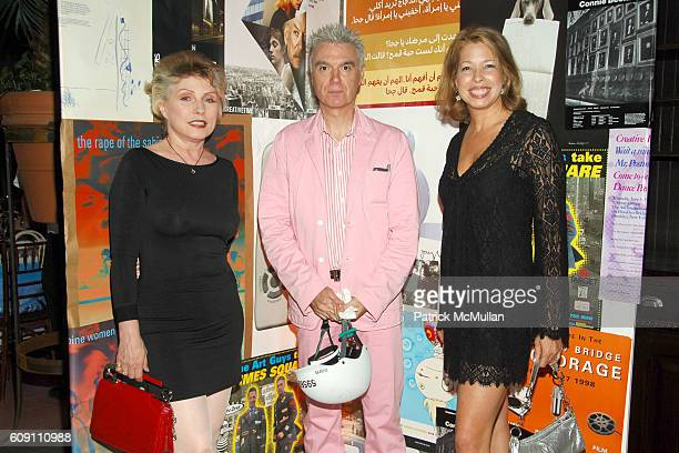 Deborah Harry David Byrne and Anne Pasternak attend CREATIVE TIME CELEBRATES ITS 33RD BIRTHDAY at Bowery Hotel on May 10 2007 in New York City