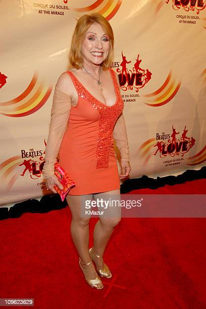 Deborah Harry during 'LOVE' Cirque du Soleil Celebrates the Musical Legacy of The Beatles Red Carpet at The Mirage Hotel and Casino in Las Vegas...