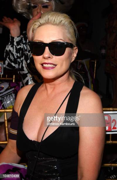 Deborah Harry during MercedesBenz Fashion Week Spring Collections 2003 House of Field Front Row in New York City New York United States